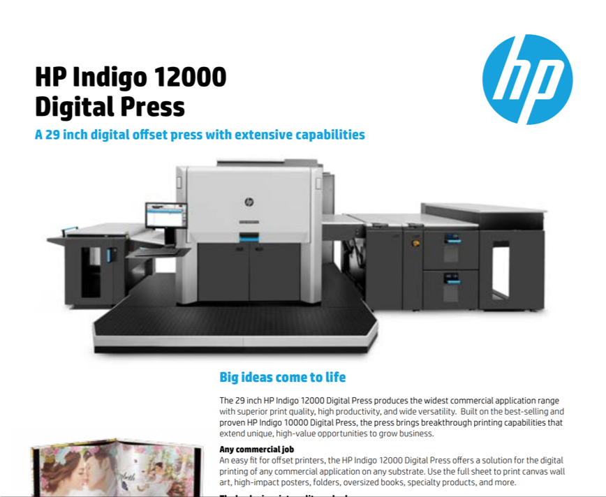 Indigo HP 12000 - Digital Printing | New York City - Top Printer New