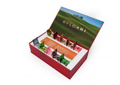 Pop-up tabs for Bulgari Influencer Box