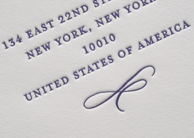 Letterpress Printing In New York City - Invitations and Announcements